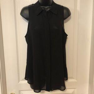 Guess Black Sheer sleeveless blouse / top